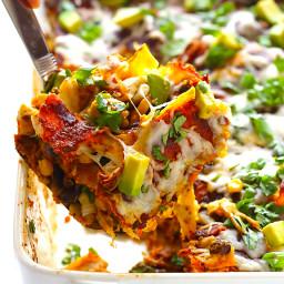 Chicken Enchilada Casserole (a.k.a. Stacked Chicken Enchiladas)