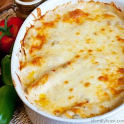 Chicken Enchiladas with White Sauce