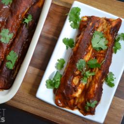 Chicken (or Turkey) Green Chile Enchiladas