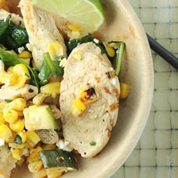 Chicken, Spinach, and Corn Sauté