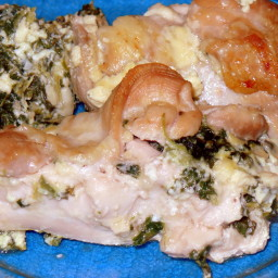 Chicken stuffed with Spinach/Ricotta in Lemon Sauce