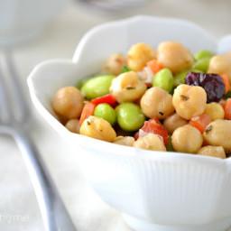 Chickpea and Edamame Salad