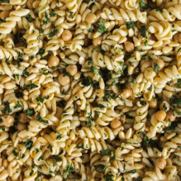 Chickpea and Pasta Salad With Lemon-Chutney Dressing
