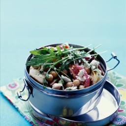 Chickpea, Artichoke Heart, and Tomato Salad with Arugula