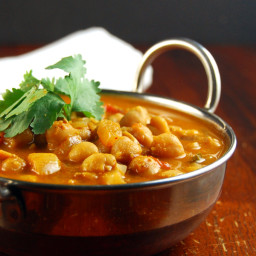 Chickpea Curry, South Indian Style