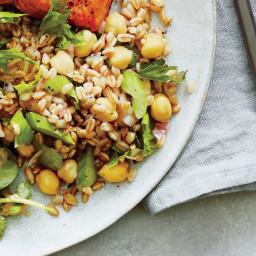Chickpea-Farro Salad