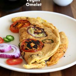 Chickpea flour Vegan Omelet - Fluffy Chickpeas flour Omelette