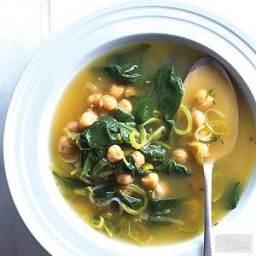Chickpea, Leek & Spinach Soup