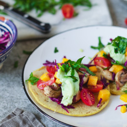 chickpea pancake tacos with mushroom filliing