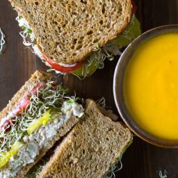 Chickpea Salad Sandwiches (Vegan, Oil-Free)