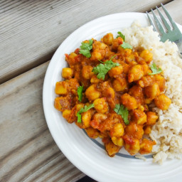Chickpea Vindaloo (Spicy Chickpea Curry)