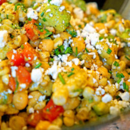 Chickpea, Avocado and Grilled Corn Salad