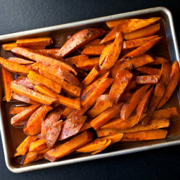 Chile-Bathed Sweet Potatoes