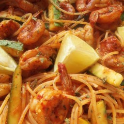 Chile de Arbol Shrimp and Pasta