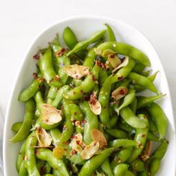 Chile-Garlic Edamame