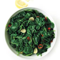 Chile-Garlic Spinach