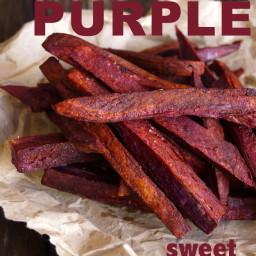 Chile-Lemon Roasted Purple Sweet Potato French Fries