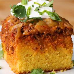 Chili-Cheese Corn Bread Poke Cake Recipe by Tasty
