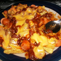 Chili Cheese Dog Nachos