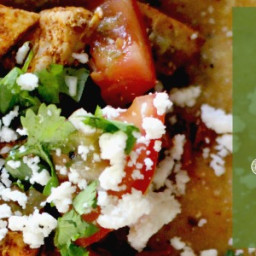 Chili & Lime Chicken Tacos with Cilantro and Queso Fresco