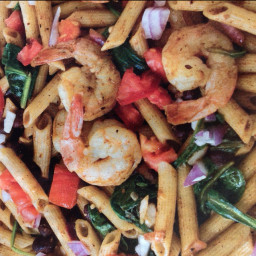 Chili lime shrimp pasta salad