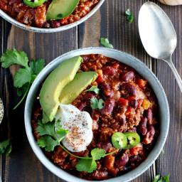 Chili vegan au quinoa (sans gluten)
