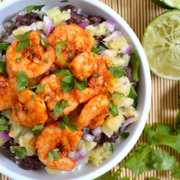 chili lime shrimp bowls
