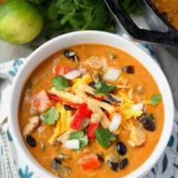 Chili's Copycat Chicken Enchilada Soup