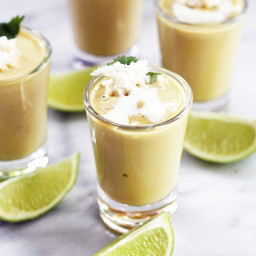 Chilled Avocado Soup Shooters + Crab