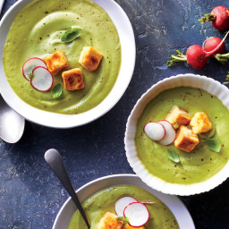 Chilled Avocado Soup With Sparkling Water