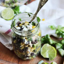 Chilled Black Bean, Feta and Cucumber Salad