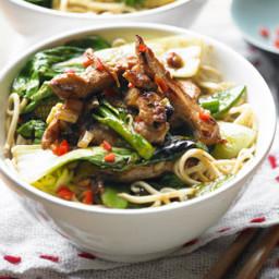 Chilli and ginger pork stir-fry recipe