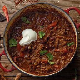 Chilli con carne recipe with a dark chocolate twist