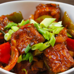 Chilli Paneer Recipe - Dhaba Style !!