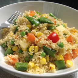 Chilli veggie cous cous with cheese