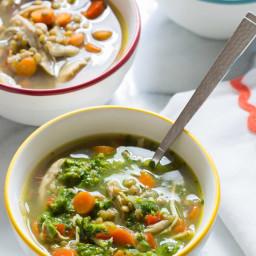 Chimichurri Chicken Lentil Soup