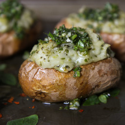 Chimichurri Twice Baked Potatoes