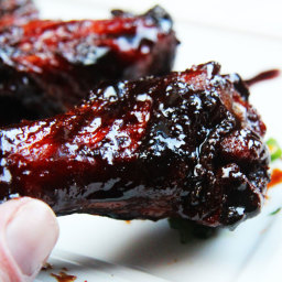 Chinese 5 Spice Chicken Wings With Soy, Balsamic Reduction Glaze