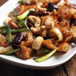 Chinese Cashew Chicken with Vegetables