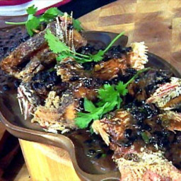 Chinese Deep-Fried Fish with Spicy Black Bean Sauce