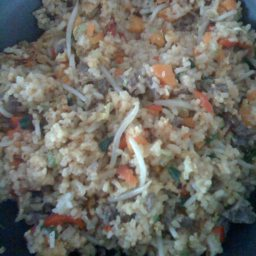 Chinese Fried Rice with Beef