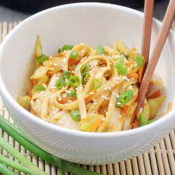 Chinese Green Cabbage Noodle Stir Fry