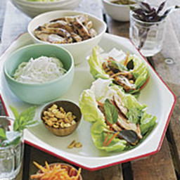 Chinese Grilled Chicken and Bibb Lettuce Wraps