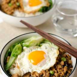 Chinese Ground Chicken Bowl