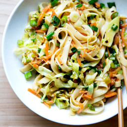 Chinese Noodles with Chilies and Scallions