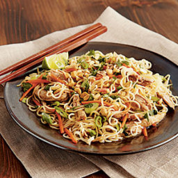 Chinese Pork Tenderloin with Garlic-Sauced Noodles (slow cooker)