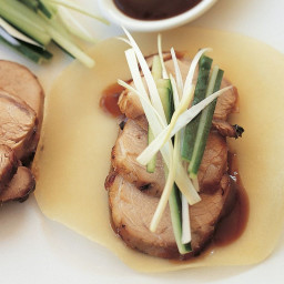 Chinese roast pork with pancakes