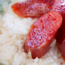 Chinese Sausage and Rice Recipe - with Sweet Soy Sauce
