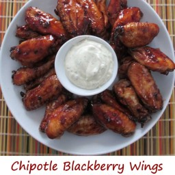 Chipotle Blackberry Wings on the Char-Broil Big Easy