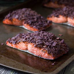 Chipotle Blue Corn Tortilla Crusted Salmon Recipe